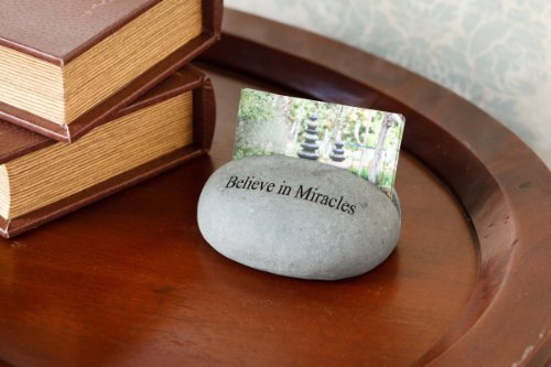 Business Card Holder Stand Stone Engraved