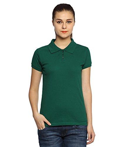 Adro-Womens-Cotton-Polo-T-Shirt-Green