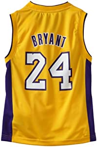 NBA Los Angeles Lakers Youth Kobe Bryant Home Replica Jersey  (Gold, Medium)