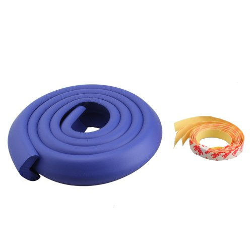 Crazy K&A (Multi Colors For Choosing) 2M Nbr Soft Baby Kids Infant Safe Edge Cushion Protector Strip (Blue Purple) front-207460
