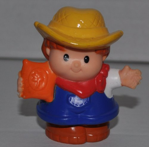 Little People Farmer (2007) - Replacement Figure - Classic Fisher Price Collectible Figures - Loose Out Of Package & Print (OOP) - Zoo Circus Ark Pet Castle