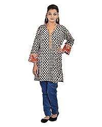 Damyantii Plus Size Women's Cotton Banded Collar Kurti