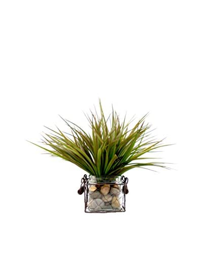 Creative Displays Vanilla Grass Wired Basket, Green/Brown