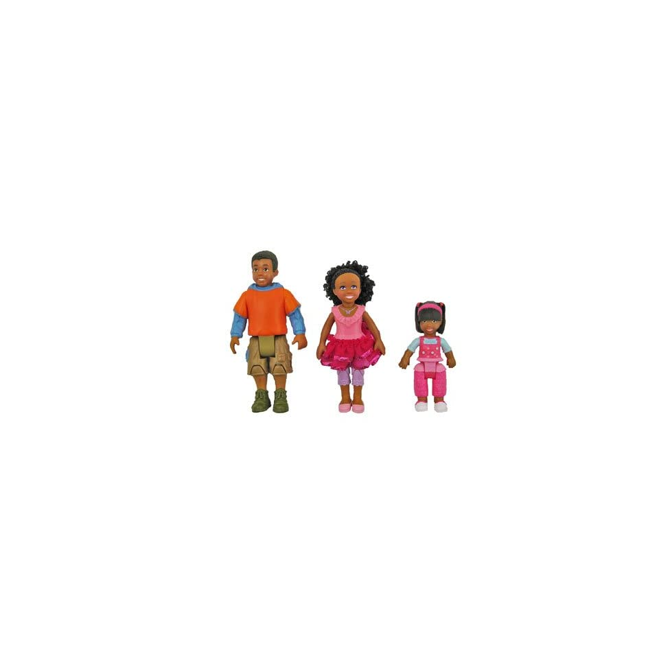 Fisher Price Loving Family Dollhouse BROTHER, SISTER, TODDLER African American Dolls