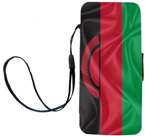 Rikki Knight Malawi Flag Flip Wallet iPhoneCase with Magnetic Flap for iPhone 5/5s - Malawi Flag сумка guess 8595959 rikki e w status satchel black