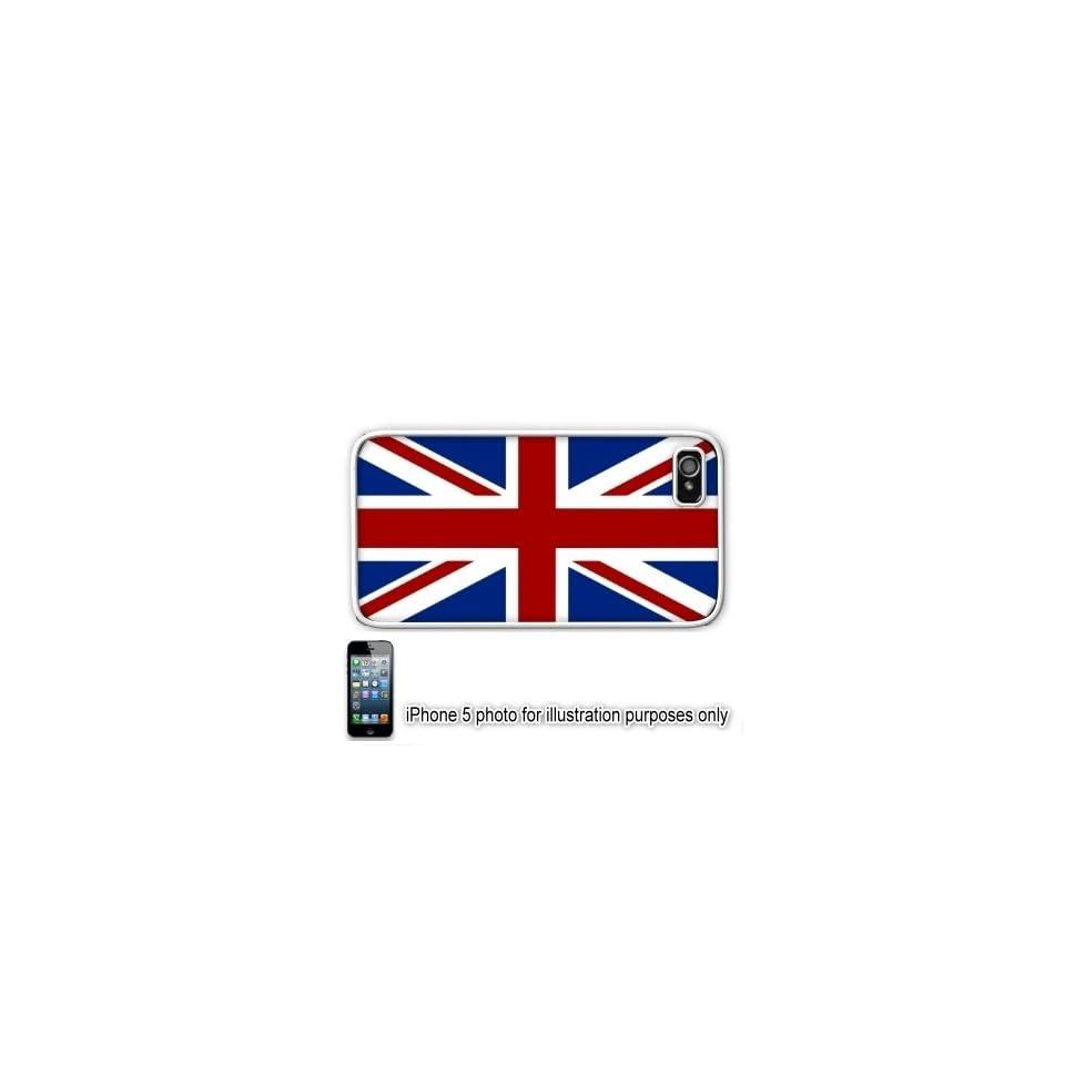 United Kingdom Union Jack British Flag Apple iPhone 5 Hard Back Case Cover Skin White