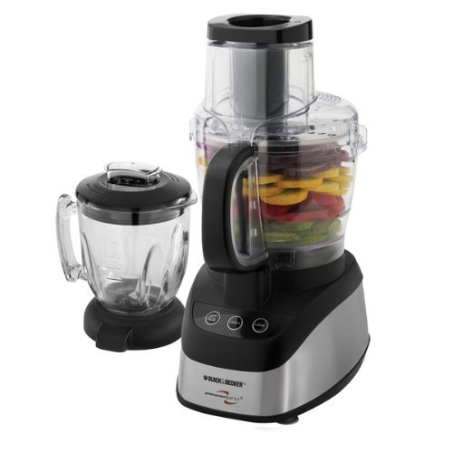 Black & Decker FP2620S Wide Mouth Combo Food Processor and Blender, 11.26 inches x 9.61 inches x 22.83 inches (Blender Food Processor Slicer compare prices)