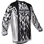 2012 Fly Racing Kinetic Jersey (MEDIUM) (BLACK/GREY)