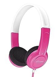 MEE Audio HP-KJ15-PK-MEE KidJamz Lightweight and Durable Safe Listening Headphones with Volume-Limiting Technology for Kids, Pink