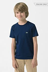 Boy's Short Sleeve Classic Crewneck Jersey T-shirt