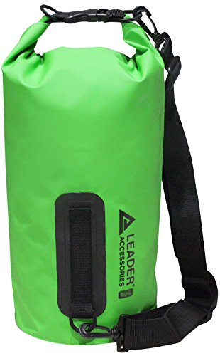 New 55L Green Heavy Duty Vinyl Waterproof Dry Bag for Boating Kayaking Fishing Rafting Swimming Floating and Camping