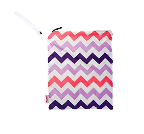 NUBY Washable Wet Bag, Pink Chevron - 1