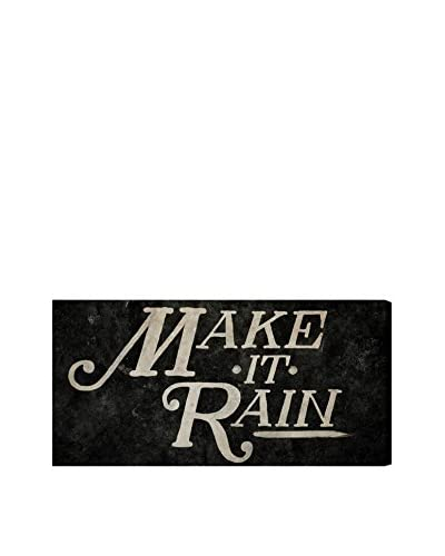 "Oliver Gal Hatcher & Ethan 'Make It Rain' Canvas Art, Multi, 12"" x 24"""
