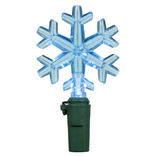 "Vickerman 68522 - 50 Light 25' Green Wire Blue Led Miniature Christmas Light String Set With 6"" Spacing (X6G5012)"