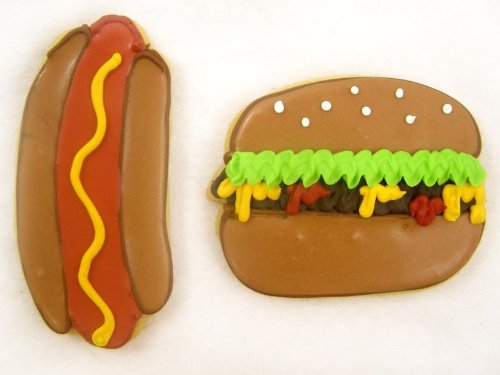 Hamburger & Hot Dog Cookie