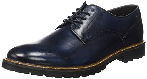 Base LondonBarrage - Scarpe stringate Uomo , Blu (Bleu (Washed Blue)), 41