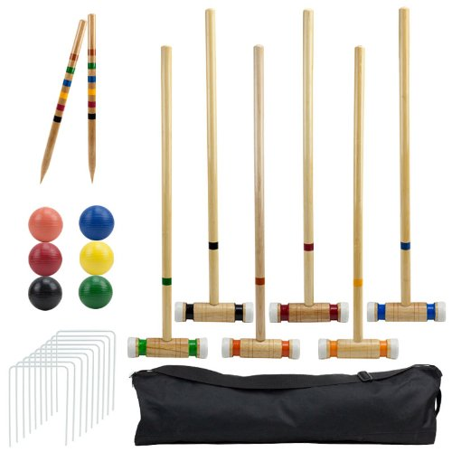 Outdoor Croquet Set  Deluxe Carrying Case - Up