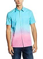 Love Moschino Camisa Hombre (Cielo / Rosa)