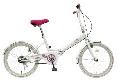 Hello Kitty 20 inches Folding Bikes Bicycle Rhinestone White NEW FDV200-04-WH
