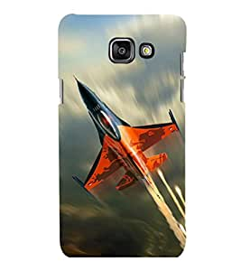 printtech Superfast Plane Jet Sky Back Case Cover for Samsung Galaxy A3 2016 Edition