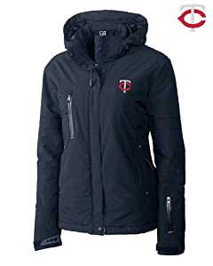 Minnesota Twins Ladies WeatherTec Sanders Jacket Navy Blue by Cutter & Buck