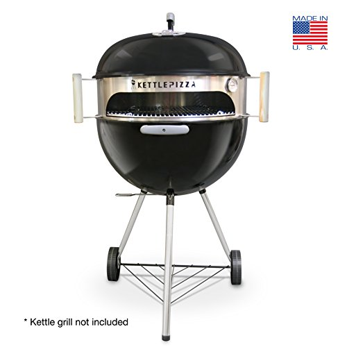 Made in USA KettlePizza Basic Pizza Oven Kit for 18.5 and 22.5 Inch Kettle Grills, KPB-22 (Grill Pizza Oven compare prices)