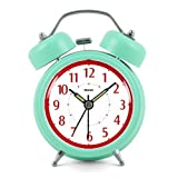 Modern Fashion Lovely Colorful Metal Alarm Clock Pink Green 921