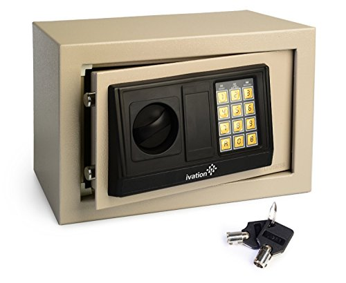 Ivation Electronic Digital Safe Box for Home & Office - Solid Steel Construction, Double Deadbolt Lock - Hidden Wall-Anchoring Design, Gray (Safety Boxes Fireproof compare prices)