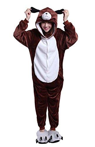 [Unisex Adult Dog Kigurumi Animal Onesie Pajamas Costume Cosplay Clothing Sleepwear Romper Outfit] (Role Reversal Halloween Costumes)