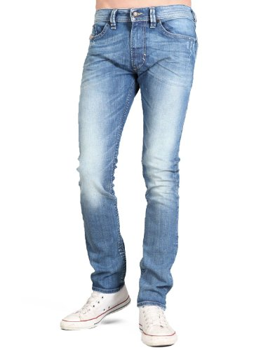 Diesel Thavar 8w7 Straight Blue Man Jeans Men - W32 L32