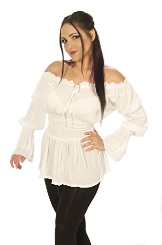 Dress Like a Pirate Women's Medieval Renaissance Wench Princess Blouse