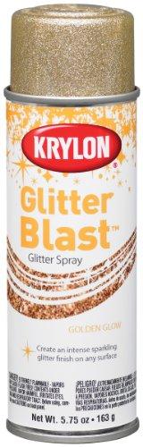 Krylon K03801 Glitter Blast, Golden Glow - 1