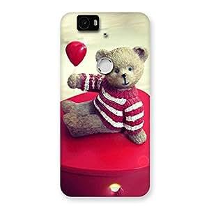 Premium Red Heart Teddy Back Case Cover for Google Nexus-6P