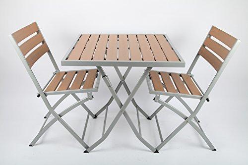 point-garden Gartenmöbelset Gartenmöbel Garten-Set Polywood Tisch + 2 Stühle