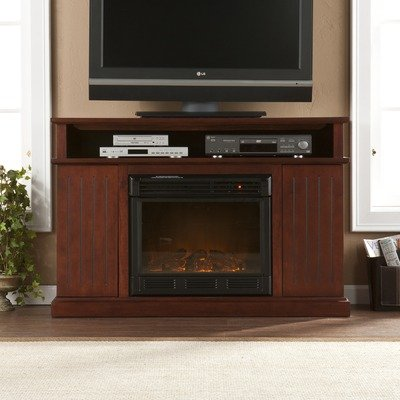 Cheap Julian 48″ TV Stand with Electric Fireplace in Cherry (CSN4239E)