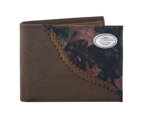 NCAA Georgia Bulldogs Camouflage Leather Bifold Concho Wallet, One Size (Georgia Bulldog Bifold Wallet compare prices)