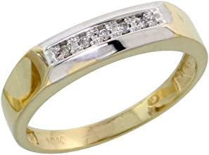 10k Yellow Gold Ladies Diamond Wedding Band Ring 003 cttw Brilliant Cut 316 inch 45mm wide