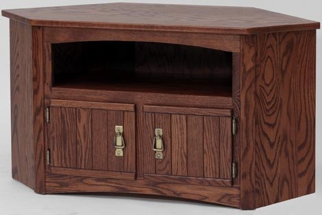 Cheap #991Solid Wood TV Stand Mission Oak Plasma LCD Corner TV Stand (B003IRC06O)