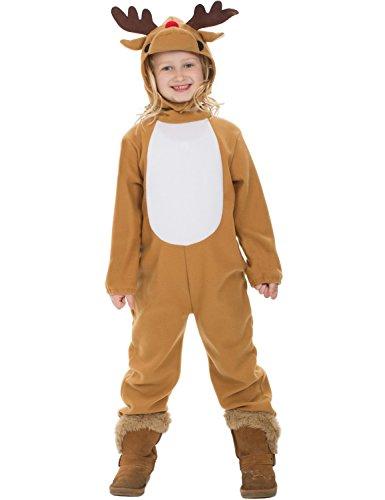 Costume Carnevale Halloween Travestimento Renna di Natale - bambino 4-12 anni Small