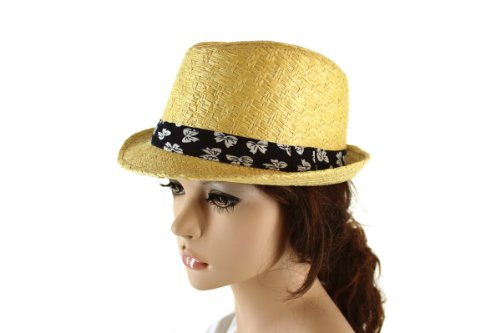 Bow Bloom Fedora in Natural