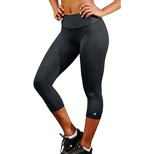 Champion Women's Absolute Workout Capri Legging, Black, M