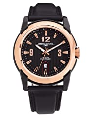 Jorg Gray Leather Black Dial Men's watch #JG9400-23