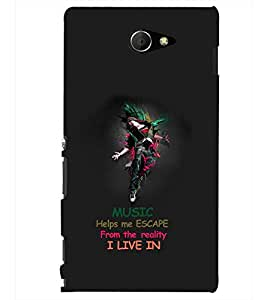PRINTSHOPPII MUSIC Back Case Cover for Sony Xperia M2 Dual D2302::Sony Xperia M2