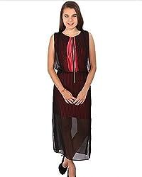Vteens Red & Black Maxi Dress (vd1502-XS_Multi Coloured_XSmall)