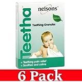 6pk x Nelsons Baby Teetha Teething Granules - 24 Sachets