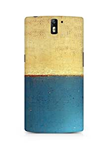 Amez designer printed 3d premium high quality back case cover for Oneplus One (Art abstract classic paint illust blue)