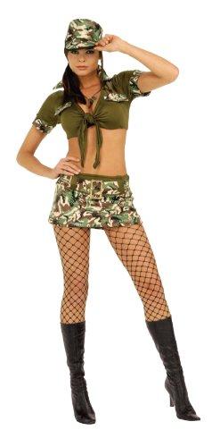 Secret Wishes  Costume Booty Camp Sergeant Women's Costume, Multi, Small