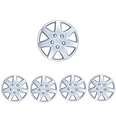 "BDK Drive Accessories KT-962-16, Toyota Paseo, 16"" Replica Wheel Covers, (Set of 4) (Silver)"