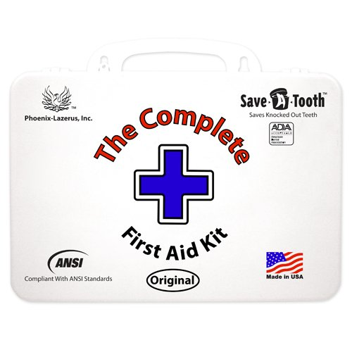 The Complete First Aid Kit - Includes Save-A-Tooth, Exceeds ANSI Standards, 100% Made in USA