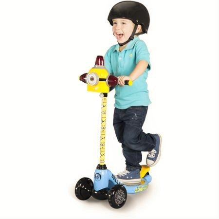 Minions-8004-01CY-3-Wheel-Scooter-5-YellowBlue-Bundle-with-Sky-Rocket-Minion-One-Eye-Helmet-Toy-and-Despicable-Me-Minion-Made-Elbow-Knee-Pads-Safety-Gear-6-Items-Ages-3-5